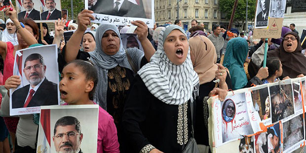 French police disperse MB protest at Egyptian consulate