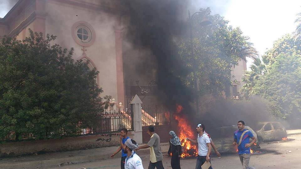 Church of the Good Shepherd in Suez ignored after being burnt