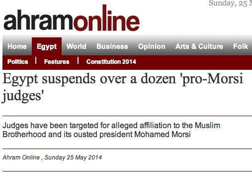 Egypt suspends over a dozen 'pro-Morsi judges'