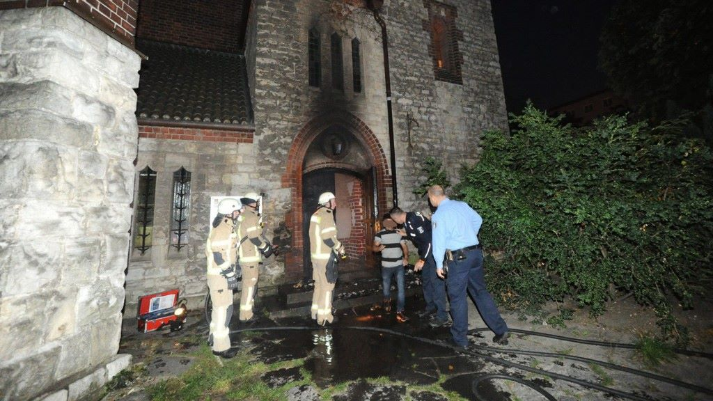 Extremists burn a Coptic church in Germany