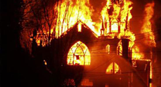 Three accused of burning the Evangelical Church in Mallawi arrested