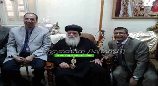 President of Aswan University visits the Church on Charismas