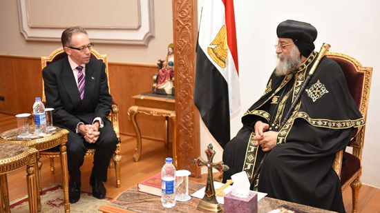 Australian Ambassador offers condolences to Pope Tawadros