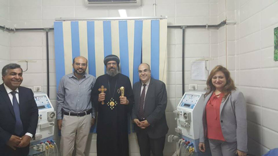 Bishop Angelous opens the renal dialysis center of St. Mark's Hospital in Shubra