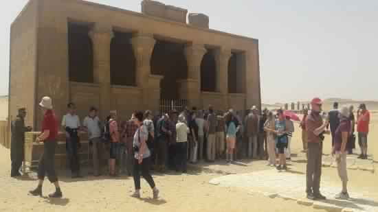 A touristic delegation from England and Germany visits the archaeological areas of Minya