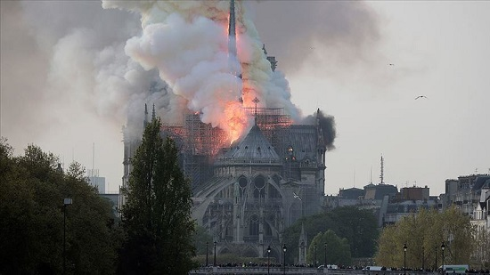 The symbol of France burning