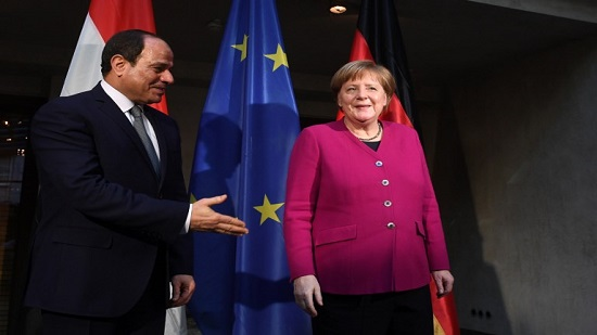 Sisi and Merkel discuss regional issues such as Libyan crisis