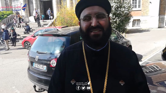 Father  Angelos Wiesa: Copts of France are happy for buying the largest site of the Coptic Church in Paris