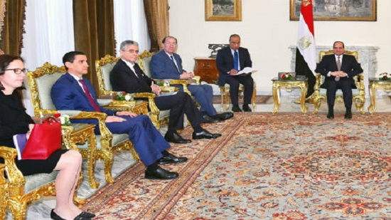 Egypts Sisi meets with new World Bank Head Malpass in Cairo
