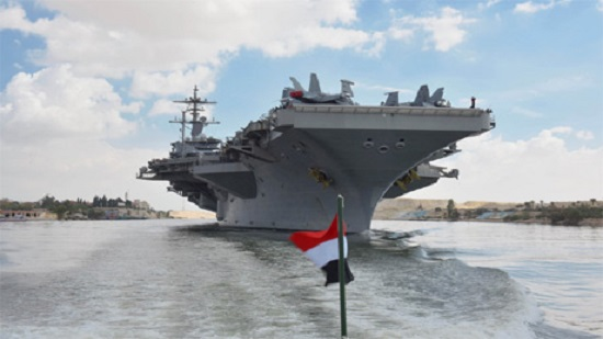 US aircraft carrier Lincoln passes through Egypts Suez Canal amid Iran tensions