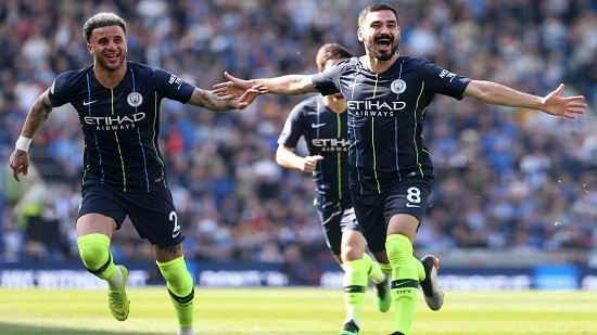 Manchester City Wins Premier League Title, Raining Goals to Leave No Doubt