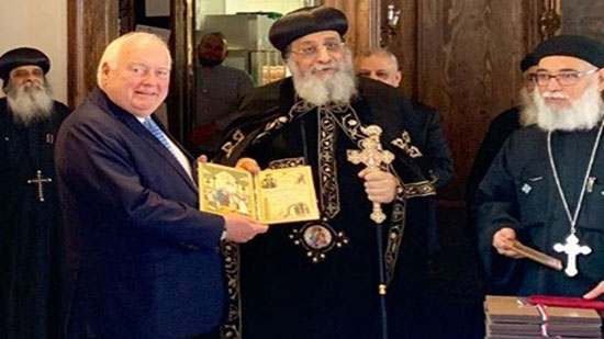 Mayor of Düsseldorf receives Pope Tawadros in Germany