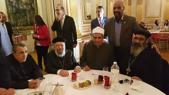 Coptic Church attends the Breakfast Ceremony of the Egyptian Embassy in Paris
