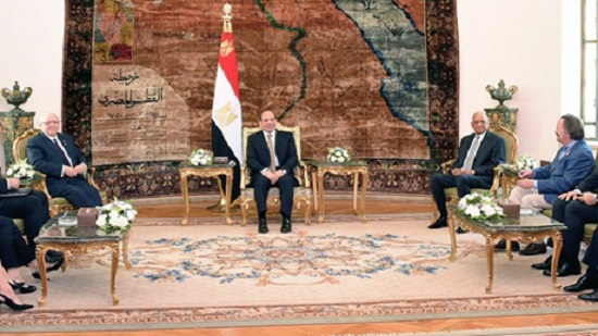 Egypts Sisi discusses boosting ties with Canadas senate speaker