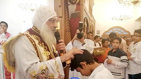 Bishop of Luxor ordains 57 deacons on the feast of Archangel Michael