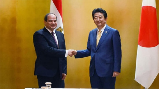 Egypts Sisi holds talks with Japans PM Shinzo Abe in Osaka ahead of attending G20 Summit