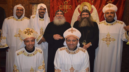 Bishops of Beni Suef and Muharraq in the Church of the Fortress