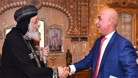 Pope Tawadros receives Vice President of the Union of Egyptians Abroad