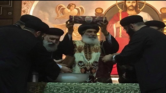 Bishop of Menofia celebrates the feast of St. Sarabamoun