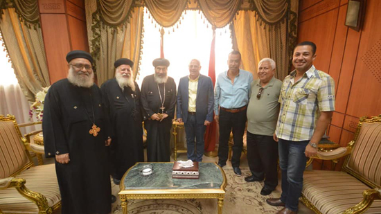 Governor of Port Said receives a delegation from the Coptic Church