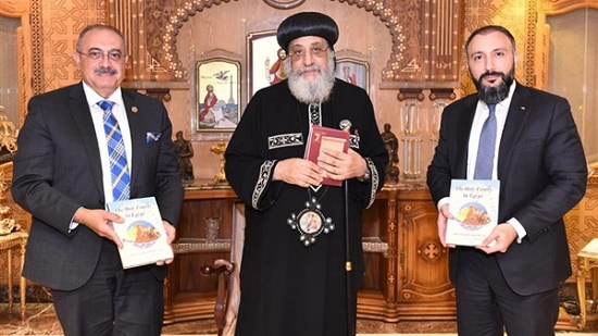 Pope Tawadros receives a member of the Canadian Parliament