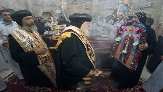 Copts of Sohag celebrate the feast of St. Shenouda in his monastery
