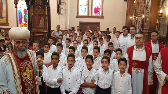 Coptic Church celebrates the arrival of the relics of St George to his church in Old Cairo