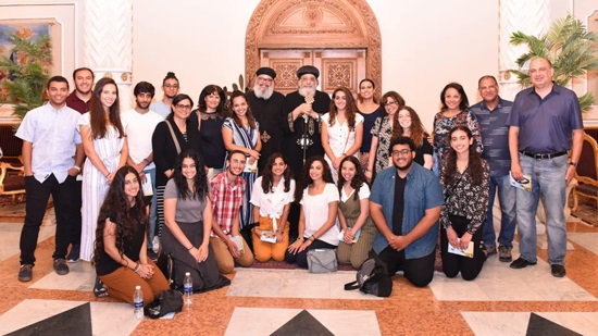 Coptic youth from Los Angeles visit Pope Tawadros in Cairo
