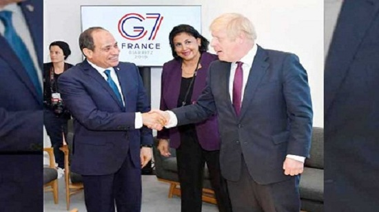 Egypts Sisi meets UK Prime Minister on the sidelines of the G7 summit