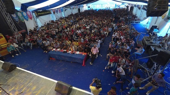 26000 people attend the carnival in his image in Qusiya