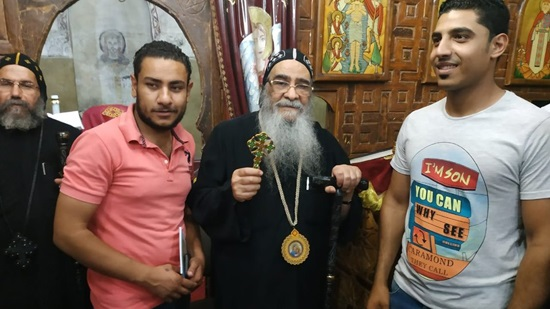Bishops Abram and Salib preside over the celebration of Martyrs of Fayoum