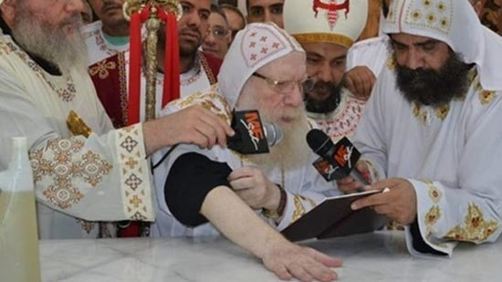 Bishop Athanasius inaugurates the Church of the Virgin in Beni Mazar