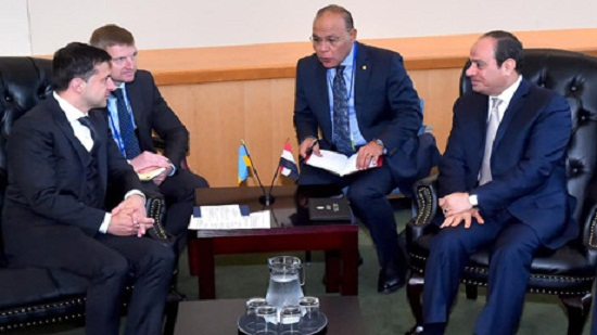 Egypts President Sisi, Ukrainian counterpart discuss bilateral relations