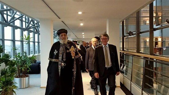 Egyptian Ambassador in Belgium receives Pope Tawadros