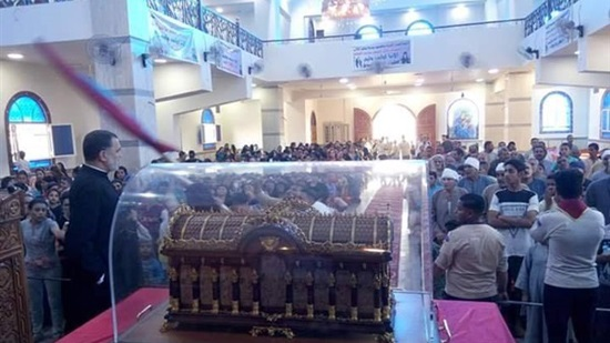 The Catholic Church in Assiut receives the remains of St Teresa
