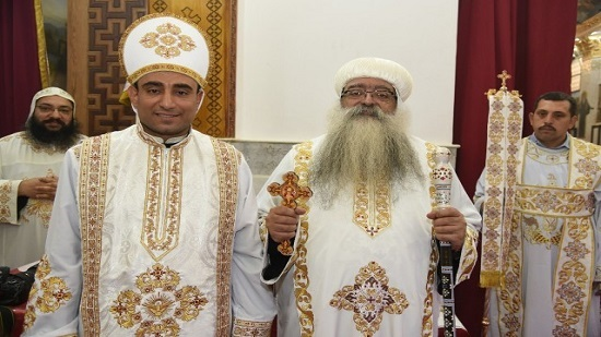 Bishop Takla ordains a new priest in Dishna