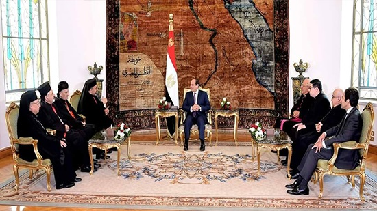 Eastern Catholic Patriarchs Council visits President al-Sisi