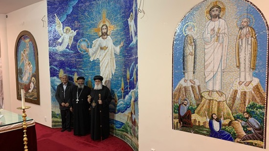 Coptic Bishop of the Netherlands inaugurates a special mural of mosaic by Adel Nassif