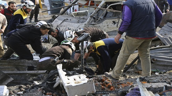 Airstrike on market in Syrian rebel-held town kills 10