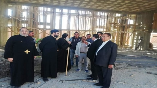 Archbishop of Aswan inspects the Church of Abu Seifin in New Aswan