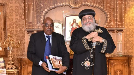 Pope Tawadros receives the Eritrean Ambassador in Cairo