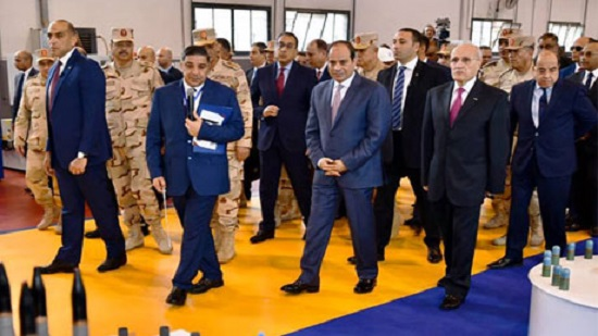 Egypts Sisi attends inauguration of new military factory