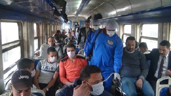 Egypts Metro and railways give out face masks at peak hours to prevent spread of coronavirus