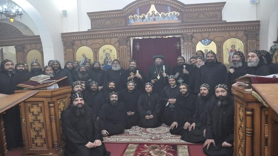 Two new monks ordained at St. Mina monastery in Abnoub