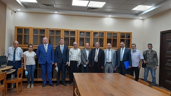 The Russian embassy delegation visits Coptic Studies Institute