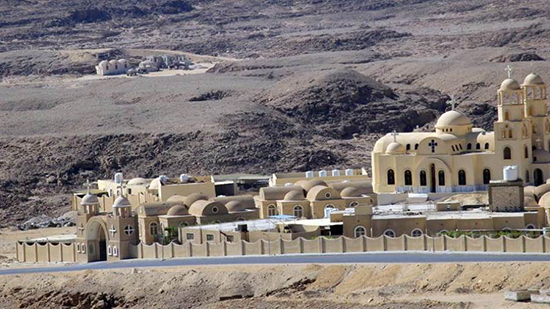 The Monastery of St. Paula in the Red Sea receives visitors