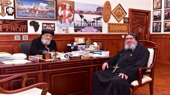 Pope Tawadros receives Priest of the Coptic Church in Canada