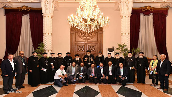 Pope Tawadros holds a meeting with the officials of the St. Simon Al-Kharraz Foundation