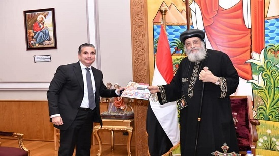 Pope Tawadros receives Egypt s Ambassador in Cyprus