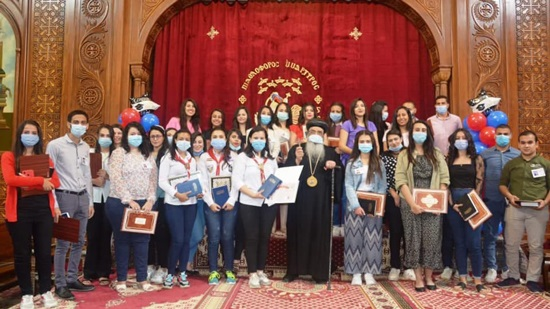 Bishop Abram of Fayoum honors the children of the diocese